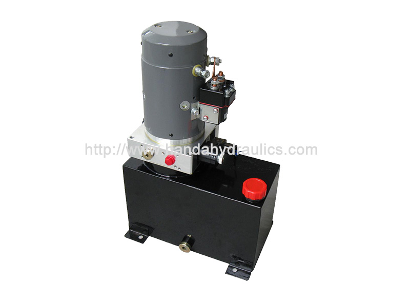 DC Mini Vertical Hydraulic Power Unit Packs With Square Tank