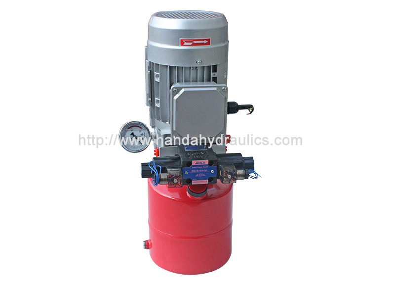 AC Mini Vertical Hydraulic Power Unit Packs With Round Tank