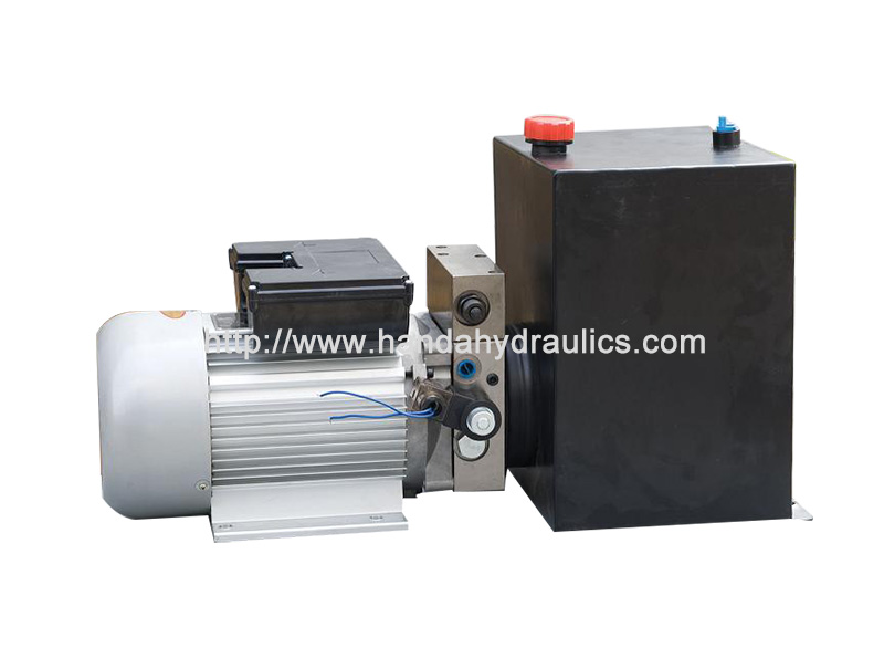 AC Mini Horizontal Hydraulic Power Unit Packs With Square Tank