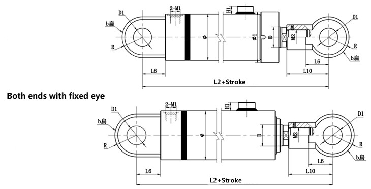 Weleded Hydraulic Cylinder Model Description