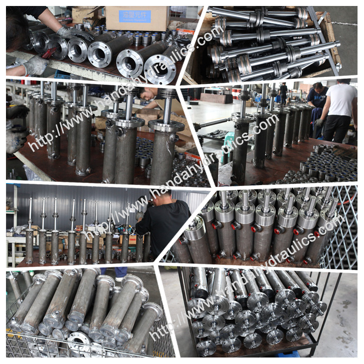 Small round hydraulic cylinder assembling picture