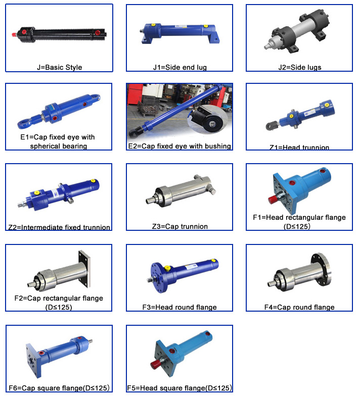 YHG1 Metallurgy Hydraulic Cylinder Mounting Type