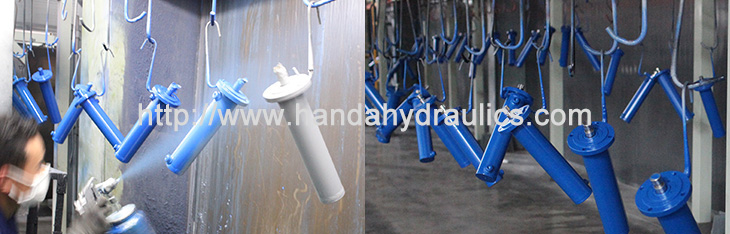 Small Round Hydraulic Cylinder Painting